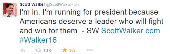 Walker=tweet